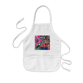 Art by Casey YEAH Abstract Art Design Kids Apron