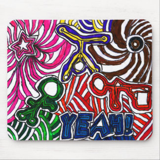 Art by Casey YEAH Abstract Art Design Mouse Pad