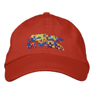 Art Cap: Tropical Morning Embroidered Baseball Cap
