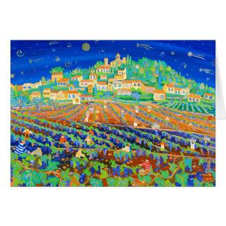 Art Card: A Night of Shooting Stars, Rasteau. Card