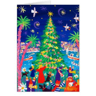 Art Card: Christmas Lights and Carol Singers Card