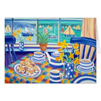Art Card: Cornish Teatime ( Cornish Blue ) Card