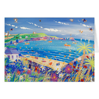 Art Card: Family Fun, Mother Ivey's Bay, Cornwall Card