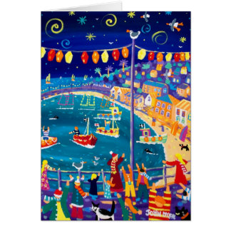 Art Card: Lanterns and Lights, Mousehole Card