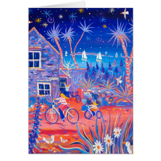 Art Card: Magical Evening, Beach Cottage, Tresco Card