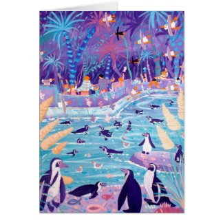 Art Card: Purple Penguin Party at the Zoo Card