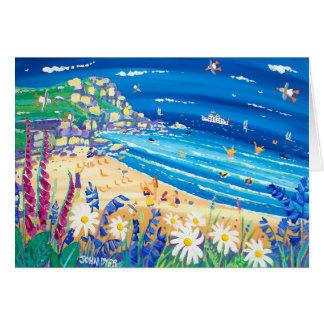 Art Card: Secret Seaside Treats. Porthchapel Beach Card