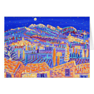 Art Card: Stars Twinkling over the valley Rasteau. Card