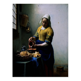 "Art Card - ""The Kitchen Maid"" by Johannes Vermeer Postcard"