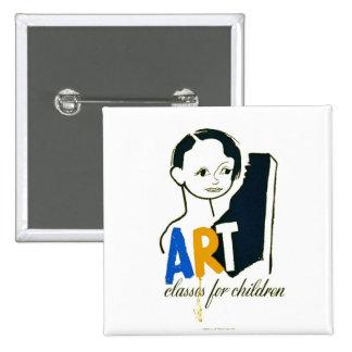 Art Classes for Children - WPA Poster - Buttons