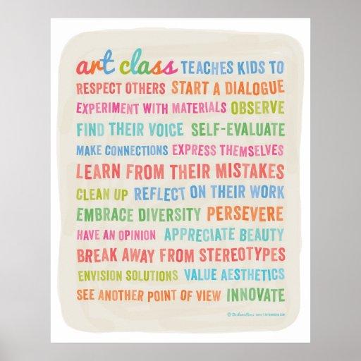 Art Classes Teach Kids //  24 x 30 Poster