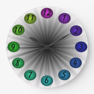Art Clock Colorful Fun Artsy Modern Colors 3D