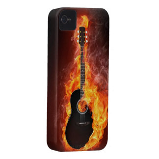Art Collection:  Guitar on Fire iPhone 4 Case