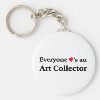 Art Collector Basic Round Button Key Ring