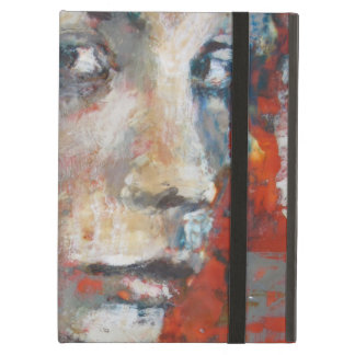 Art cover. Eyes looking ate you in strong colours iPad Air Case