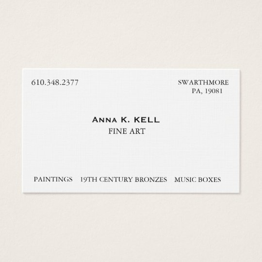 Art Dealer Business Card