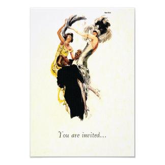 Art Deco 1920s Jazz Age 9 Cm X 13 Cm Invitation Card