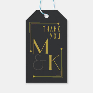 Art Deco 1920s Themed Wedding Thank You Gift Tags