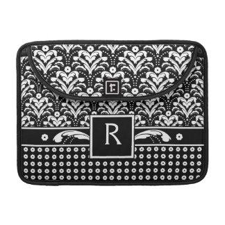 Art Deco 30s Formal Elegance Floral Damask Sleeve For MacBook Pro