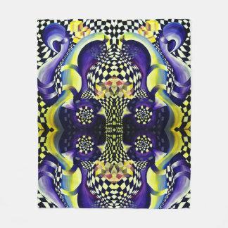 Art Deco - Abstract Distortion Fleece Blanket