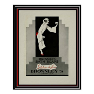 Art Deco Ad Bronnley's Soap 16 x 20 Poster