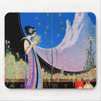 Art Deco Advertising Art  by Fred Parker Mouse Pad
