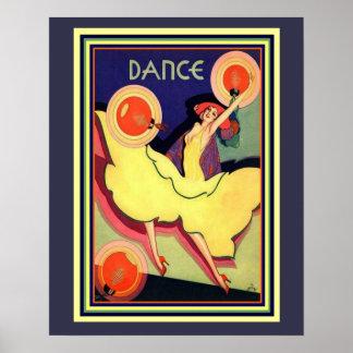 """Art Deco Albert Vargas """"Dance"""" 16 x 20 Poster"""