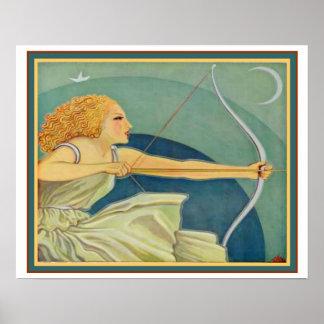 """Art Deco """"Amazon Archer"""" ca 1928  16x20 Poster"""