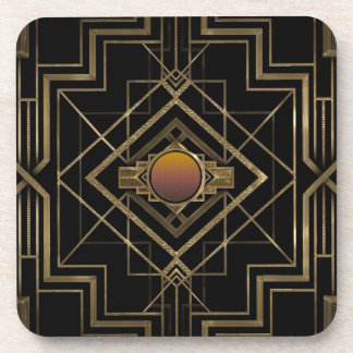 Art Deco Antique Gold Coaster