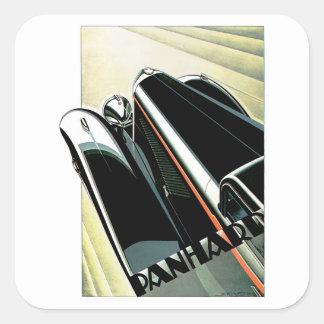 Art Deco Automobile Square Sticker