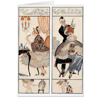 Art Deco Beauty Card