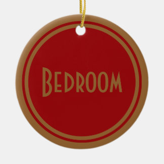 Art Deco Bedroom Door Ceramic Ornament