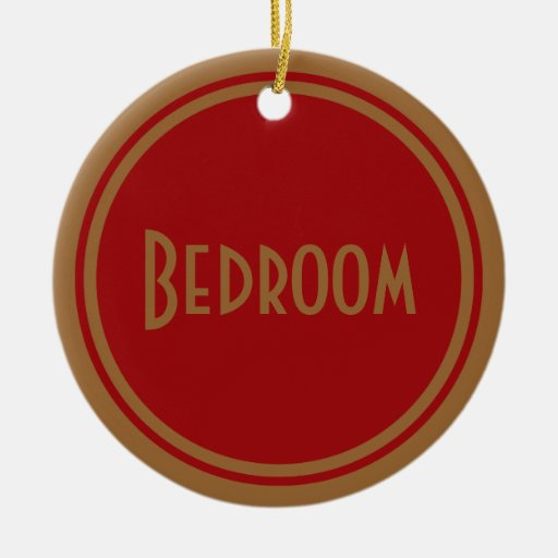 Art Deco Bedroom Door Christmas Ornament
