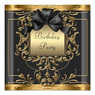 Art Deco Birthday Party 13 Cm X 13 Cm Square Invitation Card