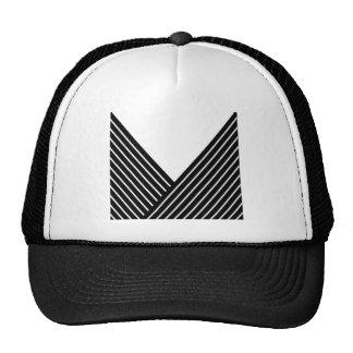 Art Deco Black and White Stripe Trucker Hats