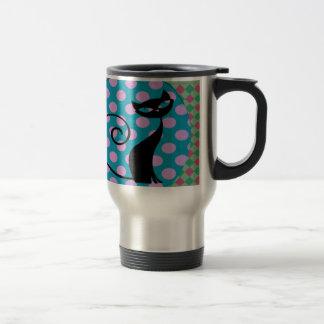 Art Deco Black Cat Coffee Mug