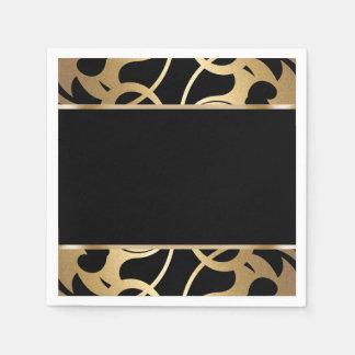 Art Deco Border Gold Paper Napkin
