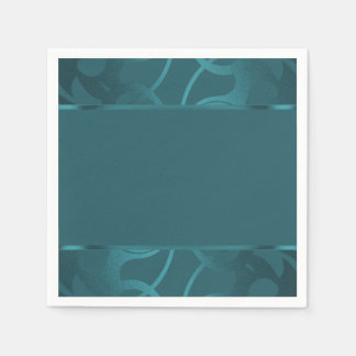 Art Deco Border Teal Disposable Napkin