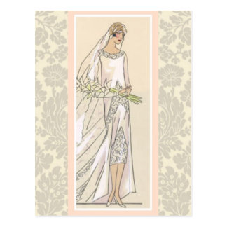 Art Deco Bride Postcard
