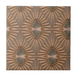 Art Deco Bronze Diamond Pattern Ceramic Tile