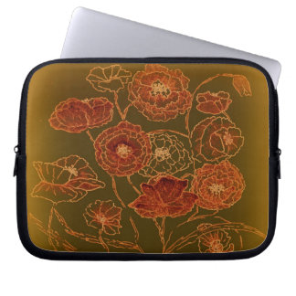 Art Deco Bronze Poppies Laptop Sleeve