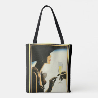 Art Deco Canvas Tote