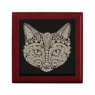 Art deco cat jewel emblem gift/jewelry box