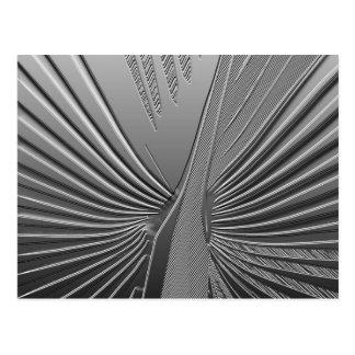 Art Deco chrome palm leaf Postcard