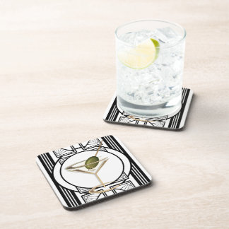 Art Deco Cocktail Coaster Set (6)