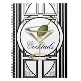 Art Deco Cocktail Notebook