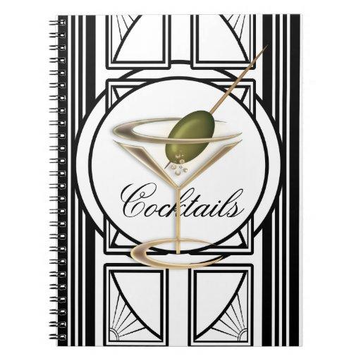 Art Deco Cocktail Notebook
