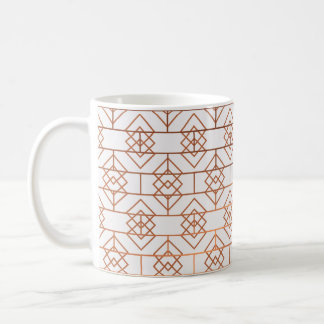 Art Deco Copper Pattern Mug