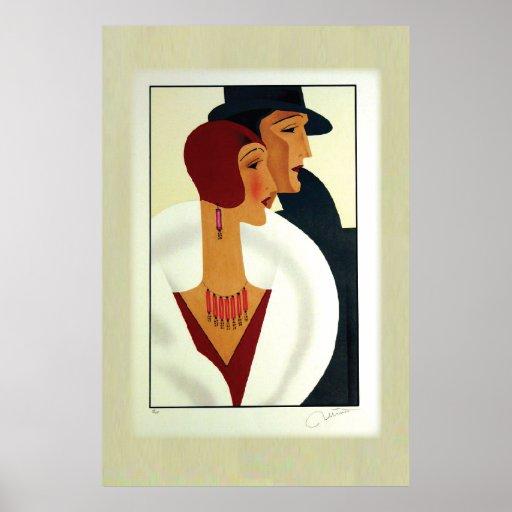 Art Deco Couple 1920s Print