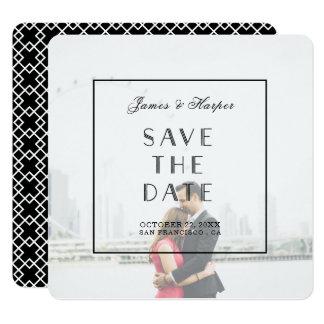Art Deco | Custom Photo Save the Date Card